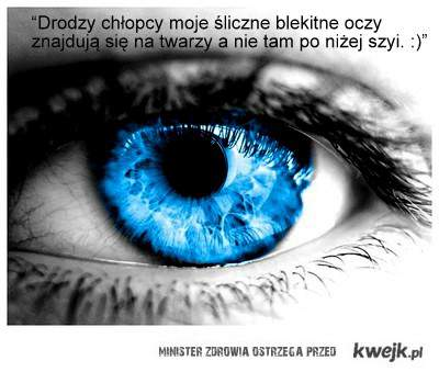 błękitne oczy