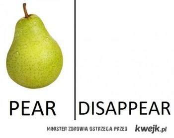 pear - disapear
