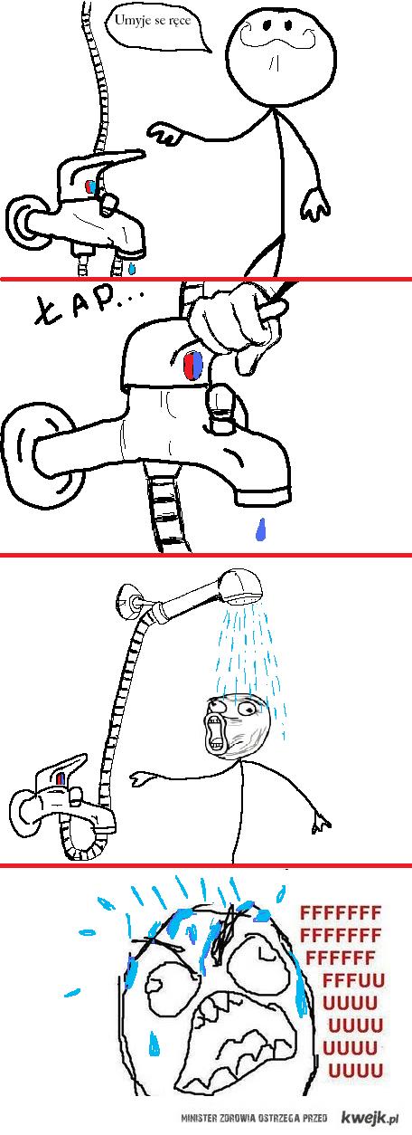 Agresywny prysznic
