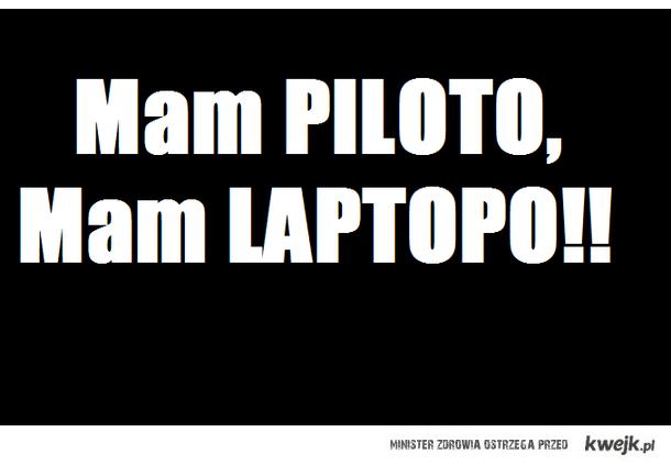 Piloto mam Laptopo