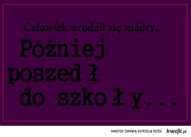 ;D Mądrość z ławki
