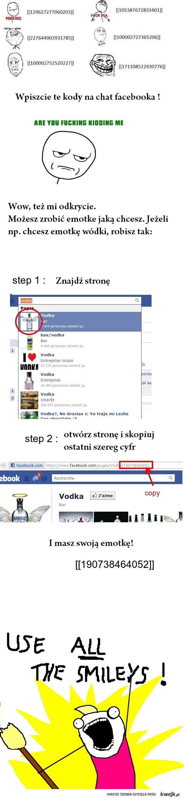 Facebookowe emoty