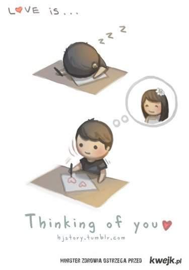 Miłość to myślenie o Tobie