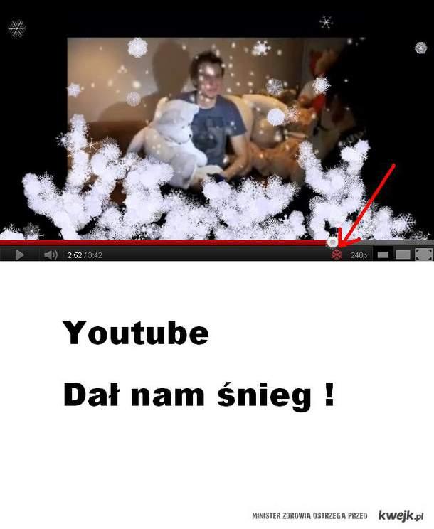 YouTube Dało śnieg