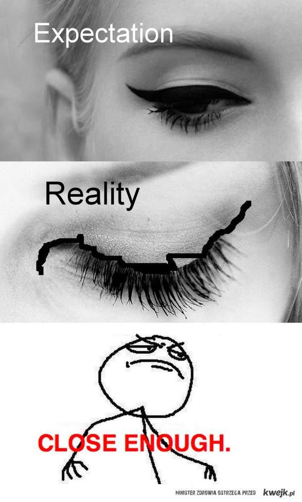 Kreski eyelinerem xD