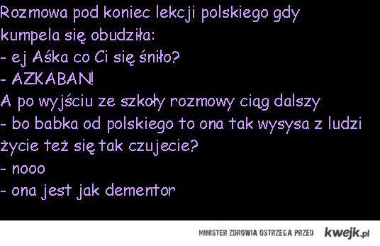 demontor - polonistka