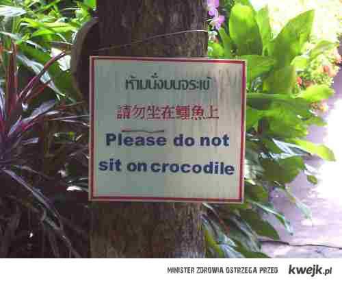 Nie siadaj na krokodylach