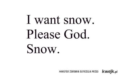 no padaj śnieg :(