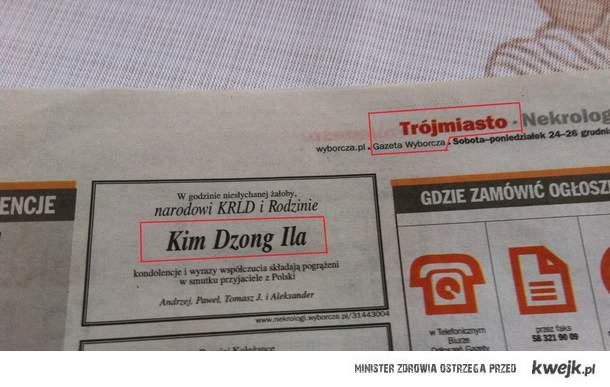 Polska też opłakuje Kim-Dzong Ila