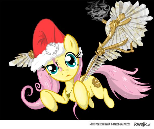 Fluttershy życzy WESOŁYCH ŚWIĄT! + SteamPunk :3
