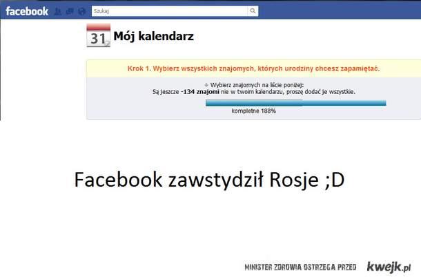 FB zawstydził Rosje