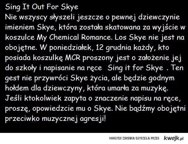 Sing it for Skye