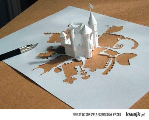 Zamek z jednej kartki