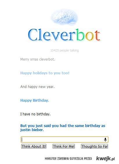 Cleverbot w swiatecznym natsroju
