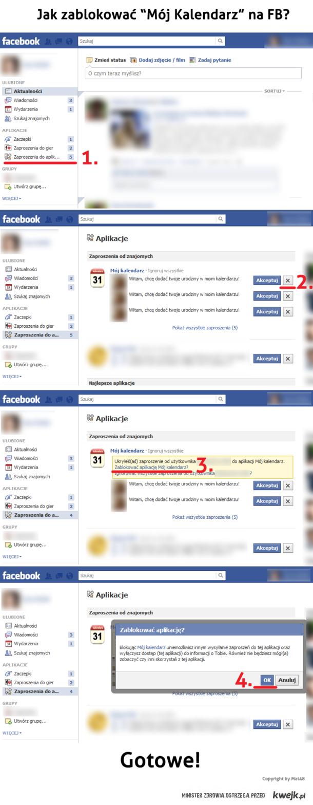 Jak zablokować Mój Kalendarz na FB?