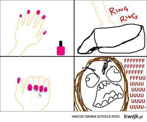 świeżo pomalowane paznokcie -.-'