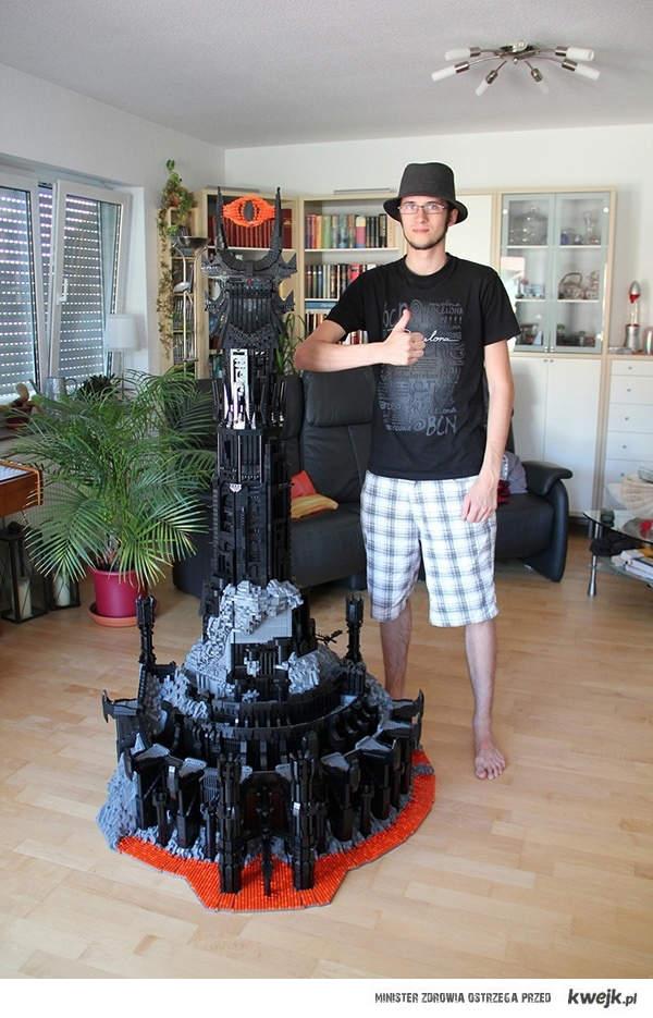 Wieża Saurona z lego