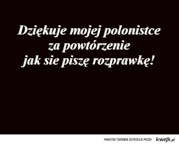 polski i rozprawka