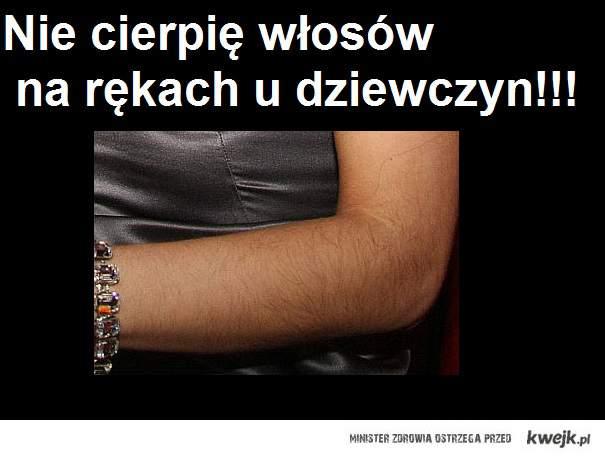 Włosy na rękach u kobiet..