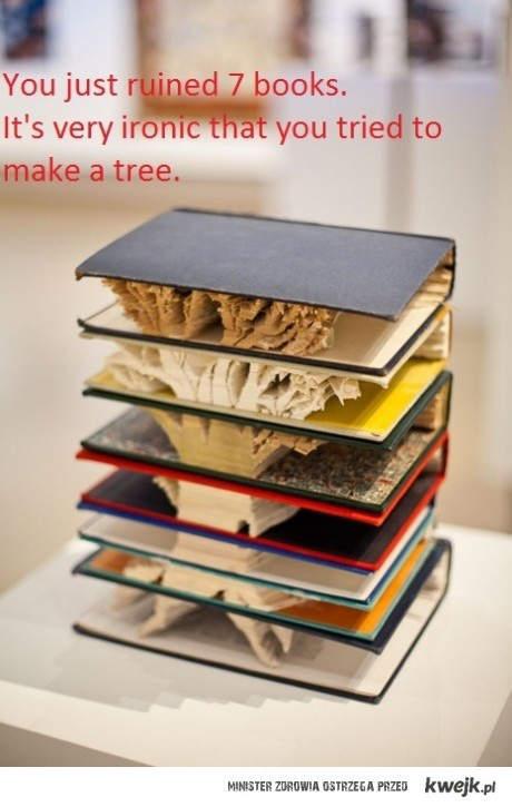 zniszczenie książek