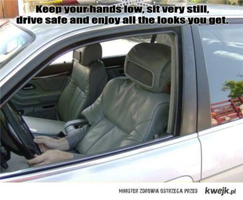 Kamuflaż do jazdy samochodem