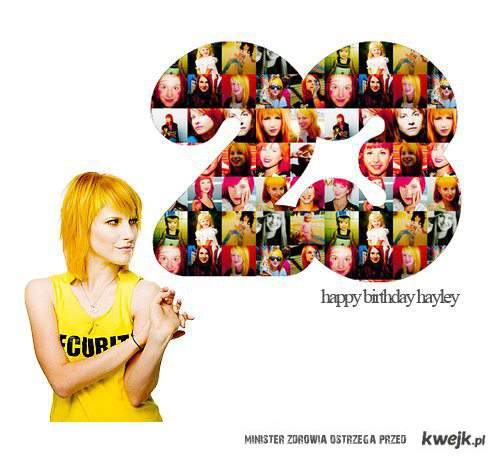 Happy BDay Hayley Williams!