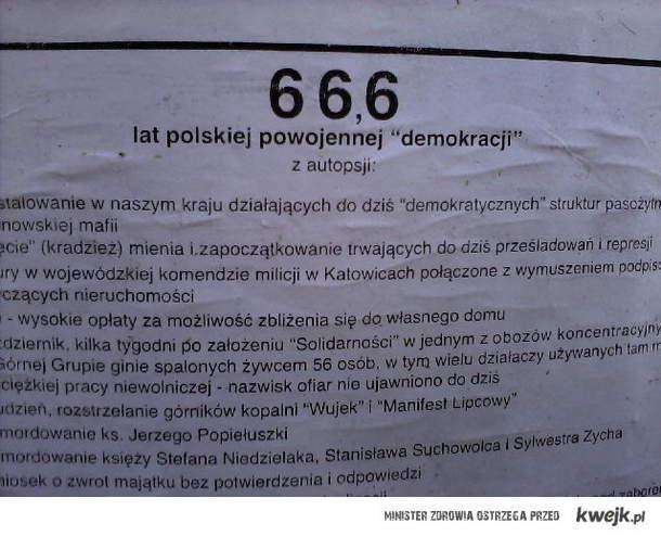66,6 lat polskiej demokracji :)