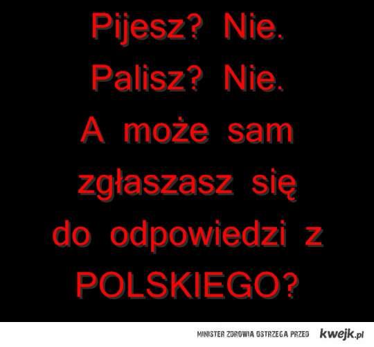 pijesz? palisz? a może polski?