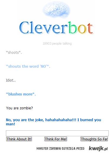 Cleverbot ciągle zaskakuje :p