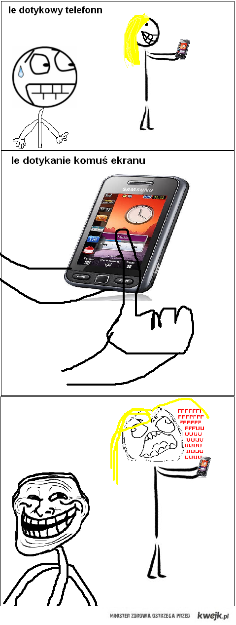 dotykowy telefon trolololo