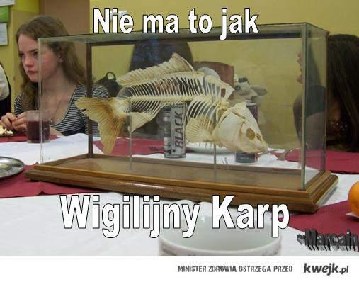Wigilia szkolna -karp
