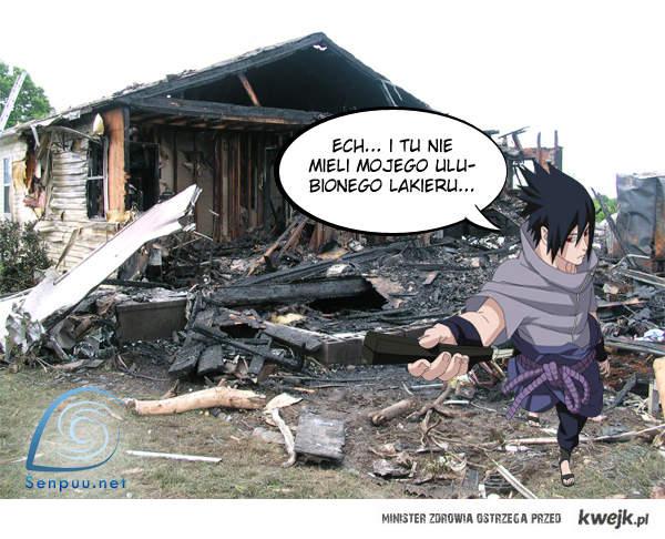 Sasuke szuka lakieru do paznokci