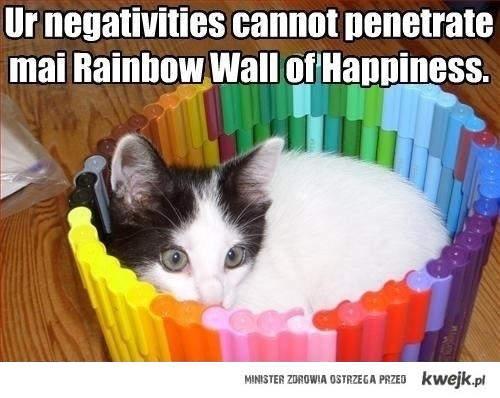 Rainbow wall of happiness
