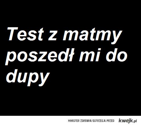 Test z matmy