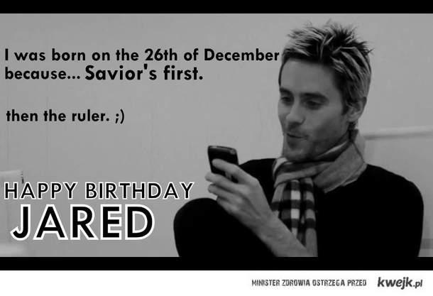 Najlepszego Jared ♥