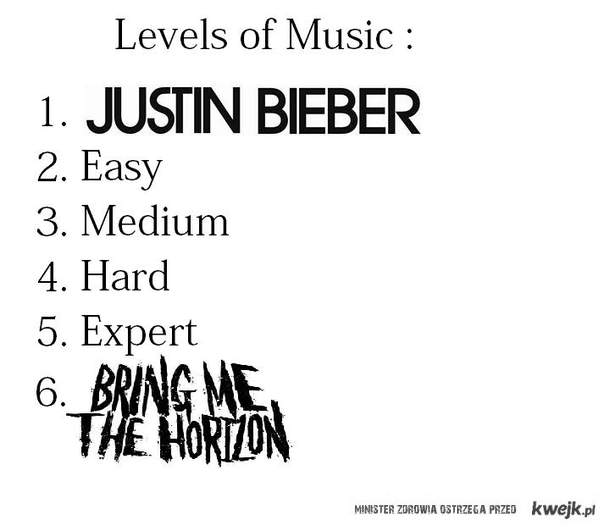 Levels of music