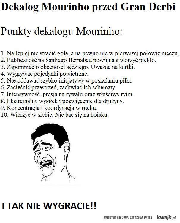 Dekalog Mourinho