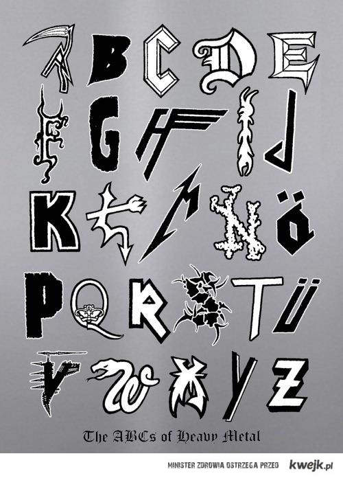 Heavy Metal Alphabet \m/