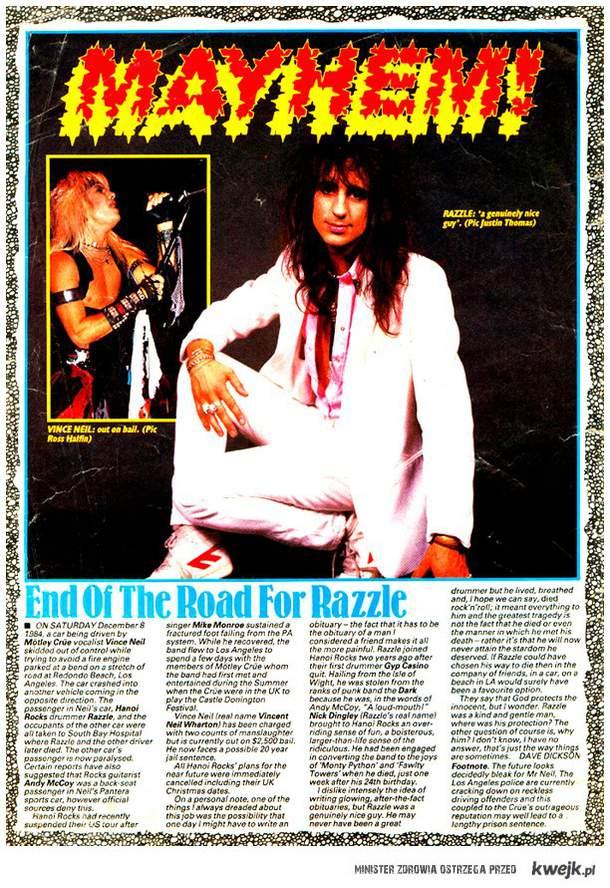 27. rocznica śmierci Razzle'a