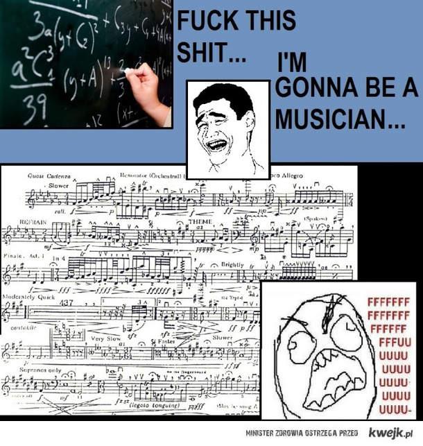 Muzyk nie ma łatwo