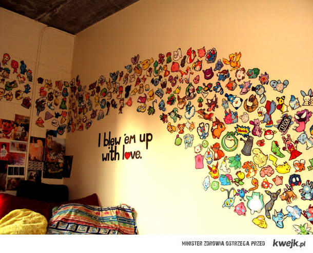 Wall of pokemon