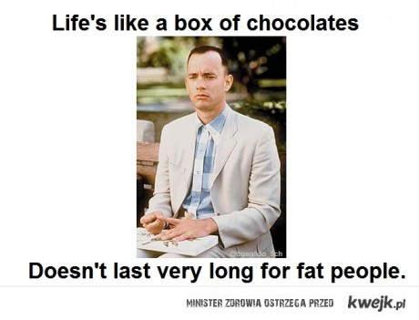 Życie jest jak pudełko czekoladek