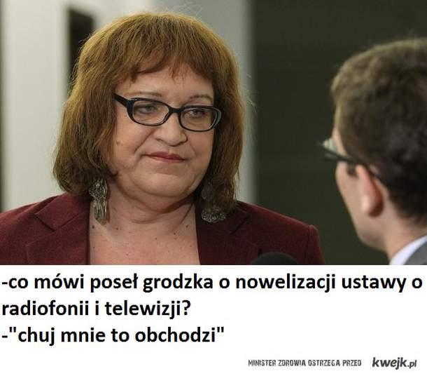 poseł grodzka