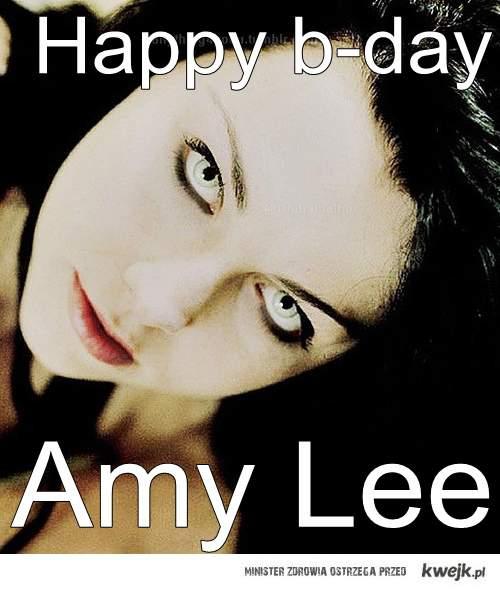 Amy Lee wokalistka Evanescence kończy 13.12.2011 30 lat <3