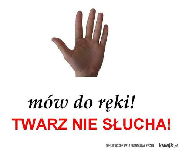 mów do ręki