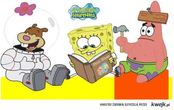 Sandy,Spongebob, Patric <3!