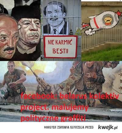 FB: belarus kolektiv project. Malujemy polityczne graffiti