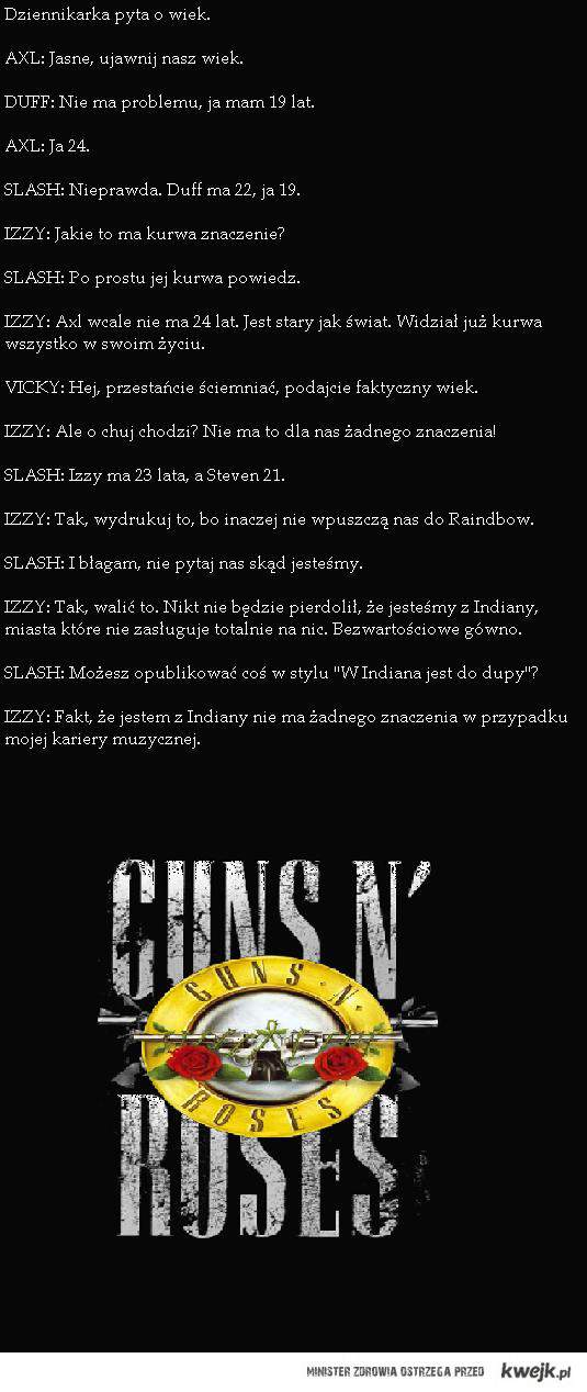 pierwszy wywiad Gn'R <3