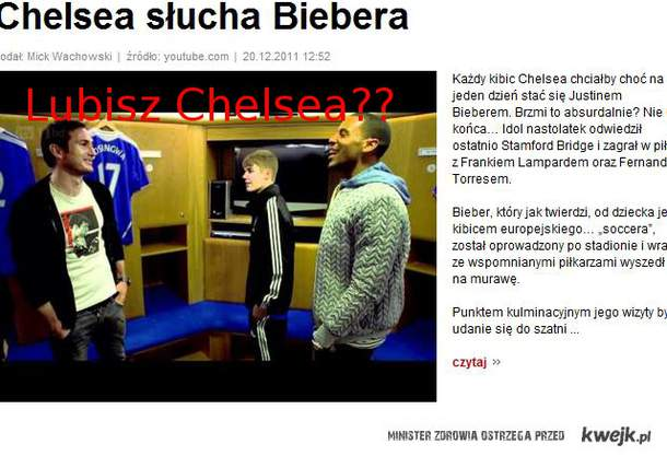 Lubisz Chelsea??
