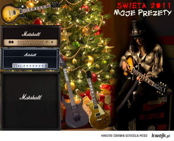 Slash, Gibson, Ibanez, Marshall